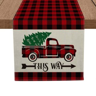 Seasonal Winter Xmas Holiday Tablecloth