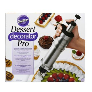 Wilton Dessert Decorator Pro Stainless Steel Cake Decorating Tool, Decorating Your Cakes, Cupcakes, Cookies and Treats, Simple and Fun, Stainless-Steel