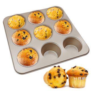 MyLifeUNIT Muffin Pan, Non-stick Cupcake Pan, 9-Cavity