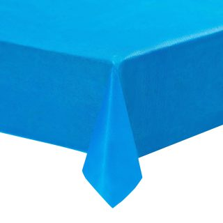 Blue Plastic Tablecloths - 12-Pack, 54 x 108 Inches Table Cloths, Rectangular Disposable Table Covers, Fits up to 8-Foot Long, Buffet Banquets or Long Picnic Tables, Party Decoration Supplies, 4.5 x 9
