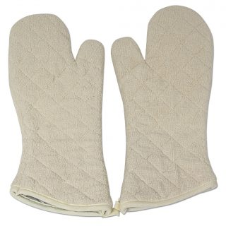 Cotton Quilted Terry Oven Mitts Long Lasting