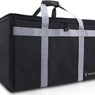 """BELLEFORD Insulated Food Delivery Bag XXL - 23x14x15"""" Waterproof Grocery Storage [Warm & Cool] - Buffet Server, Warming Tray, Lunch Container Store - Pizza Box, Chafing Dish & Casserole Carrying Case"""