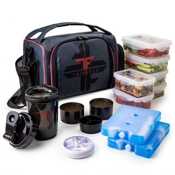 Meal Prep Lunch Box with 6 Food Portion Control Containers