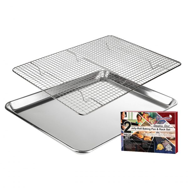 Baking Pan with Cooling Rack: