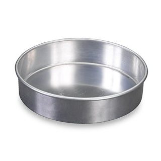 "Nordic Ware Natural Aluminum Commercial Round Layer Cake Pan Baking Essentials, 9"", Silver"